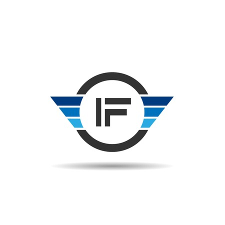 Initial Letter IF Logo Template Design Çizim