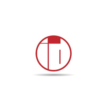 Initial Letter ID Logo Template Design Çizim