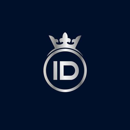 Initial Letter ID Logo Template Design Stok Fotoğraf - 109594380