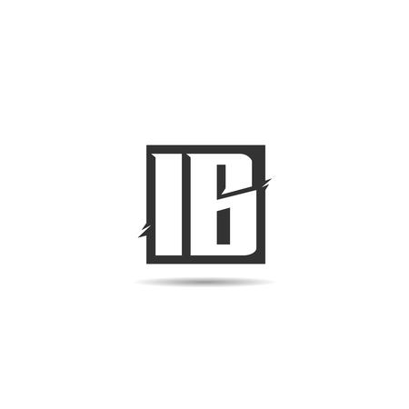 Initial Letter IB Logo Template Design Stok Fotoğraf - 109594458