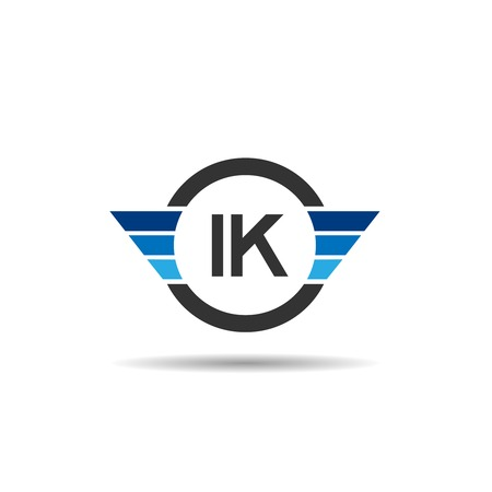 Initial Letter IK Logo Template Design