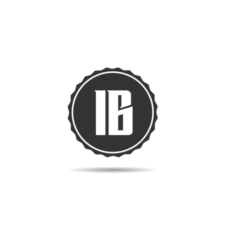 Initial Letter IB Logo Template Design Çizim