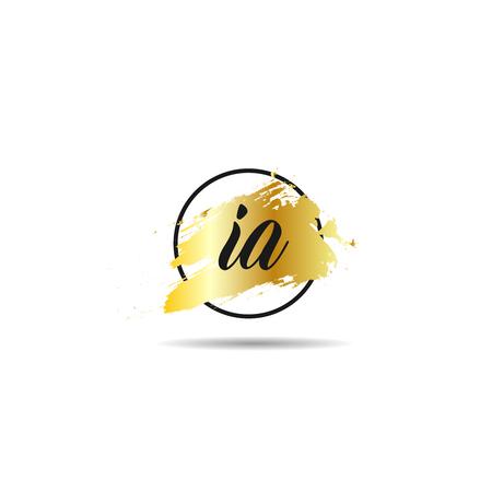 Initial Letter IA Logo Template Design Çizim