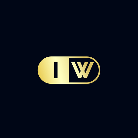Initial Letter IW Logo Template Design