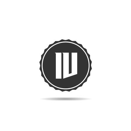 Initial Letter IV Logo Template Design Illusztráció