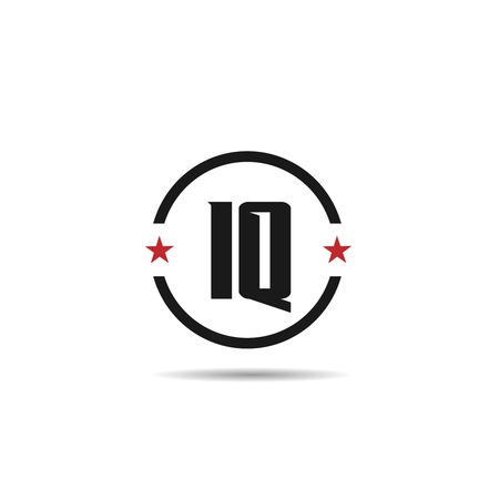 Initial Letter IQ Logo Template Design Çizim