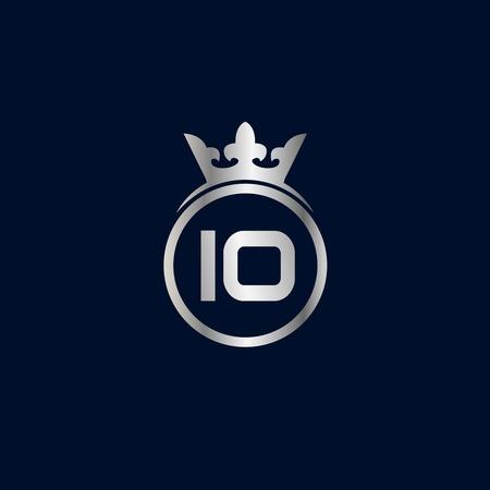 Initial Letter IO Logo Template Design Çizim