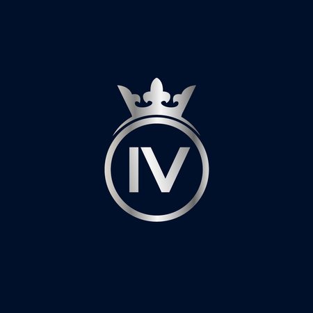 Initial Letter IV Logo Template Design Çizim