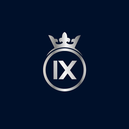 Initial Letter IX Logo Template Design