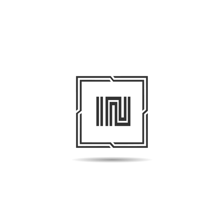 Initial Letter IN Logo Template Design