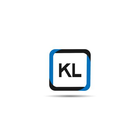 Pierwsza litera KL Logo szablon projektu Logo