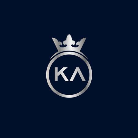 Initial Letter KA Logo Template Design Illustration