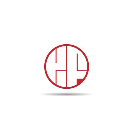 Initial Letter KF Logo Template Design