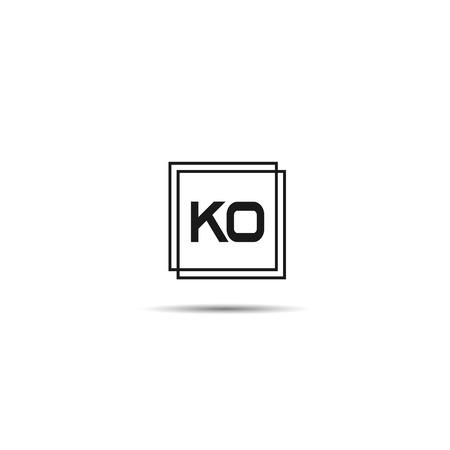 Initial Letter KO Logo Template Design