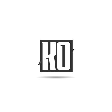 Initial Letter KO Logo Template Design Logo