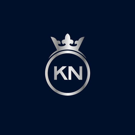 Initial Letter KN Logo Template Design