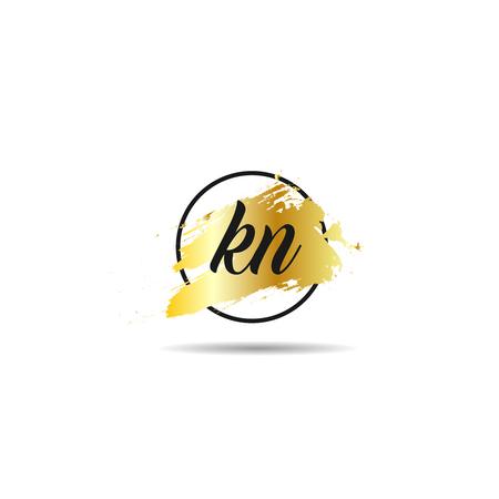 Initial Letter KN Logo Template Design