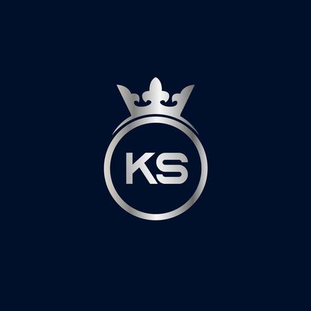 Initial Letter KS Logo Template Design Ilustrace