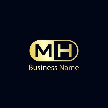Initial Letter MH Logo Template Design