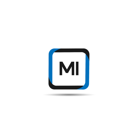 Initial Letter MI Logo Template Design