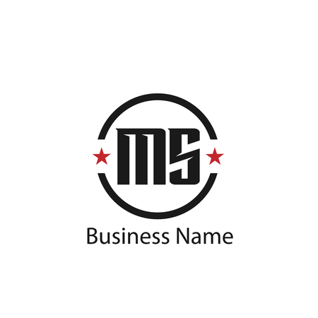 Initial Letter MS Logo Template Design 向量圖像
