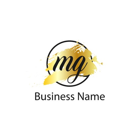 Initial Letter MG Logo Template Design Stok Fotoğraf - 109604509