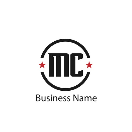Initial Letter MC Logo Template Design Stock Vector - 109604518