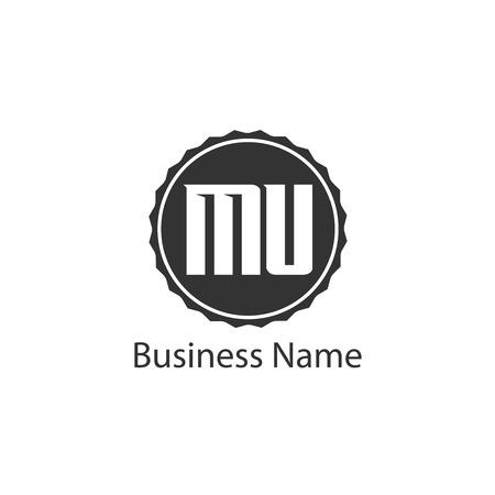 Initial Letter MU Logo Template Design