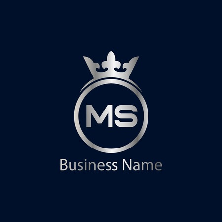 Initial Letter MS Logo Template Design Illustration