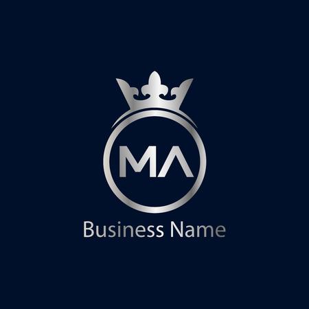 Initial Letter MA Logo Template Design