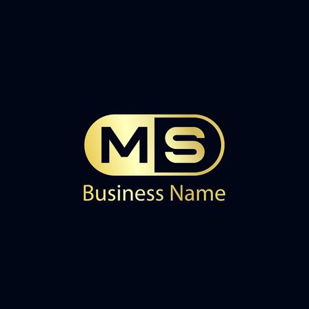 Initial Letter MS Logo Template Design Logo