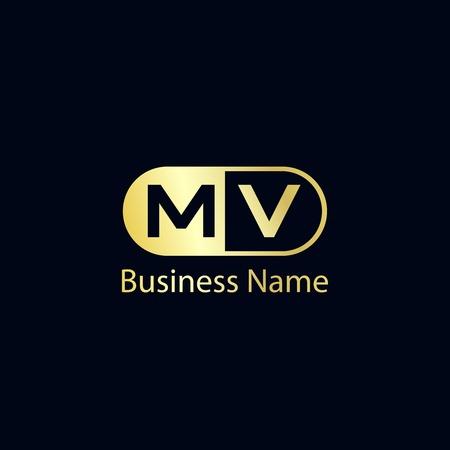 Initial Letter MV Logo Template Design Logó