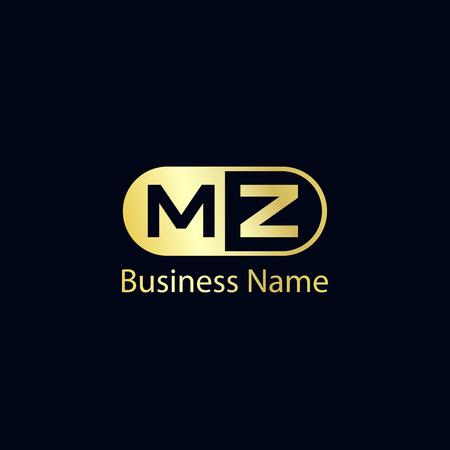 Initial Letter MZ Logo Template Design