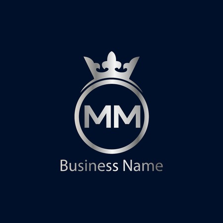 Initial Letter MM Logo Template Design
