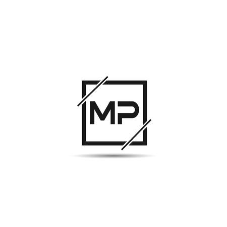 Initial Letter MP Logo Template Design Ilustração