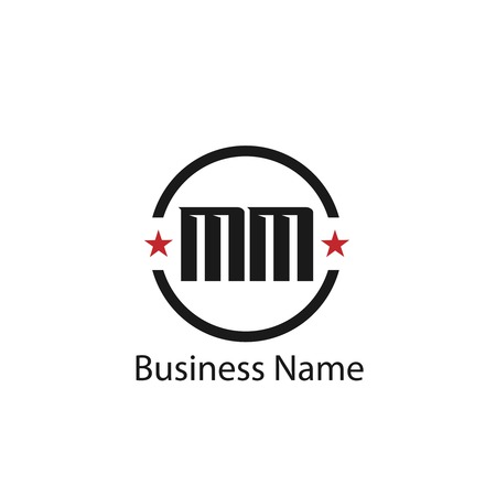 Initial Letter MM Logo Template Design