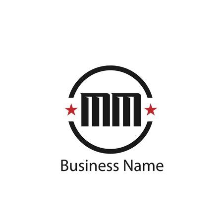 Initial Letter MM Logo Template Design Logo