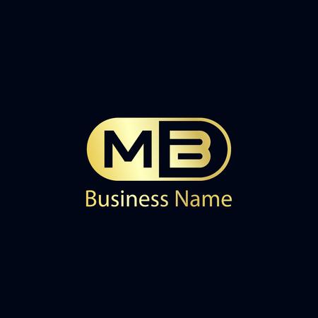 Initial Letter MB Logo Template Design