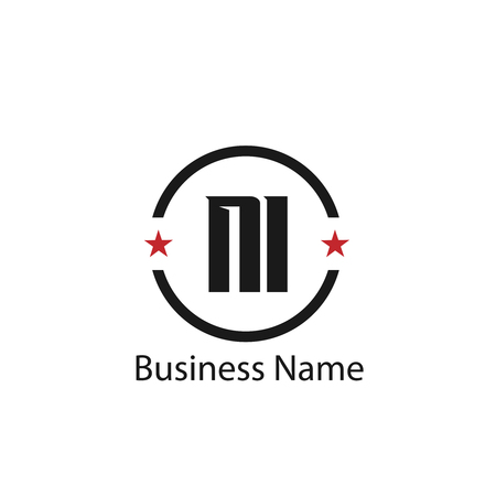Initial Letter NI Logo Template Design Çizim
