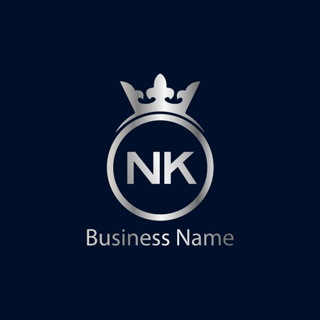 Initial Letter NK Logo Template Design