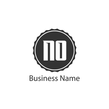 Initial Letter NO Logo Template Design