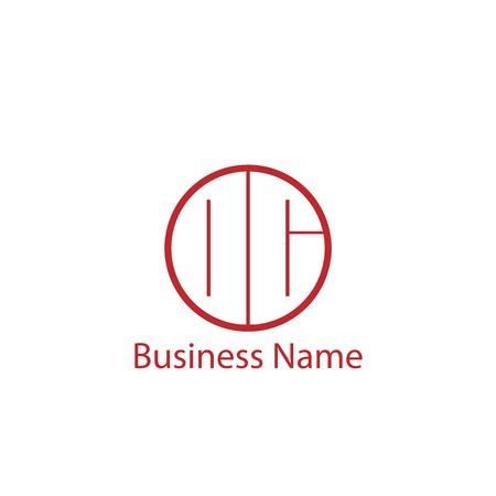 Initial Letter OC Logo Template Design