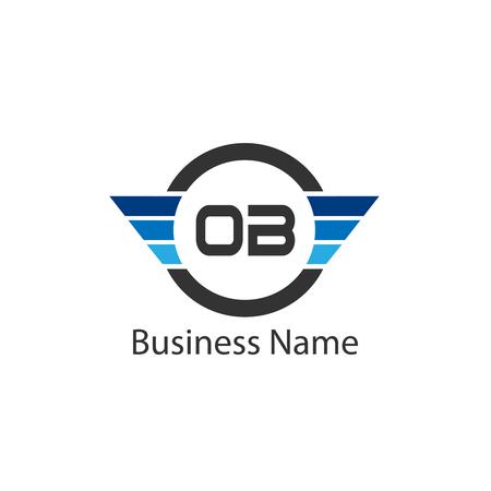 Initial Letter OB Logo Template Design