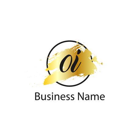 Initial Letter OI Logo Template Design