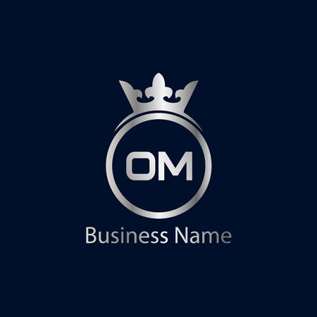Initial Letter OM Logo Template Design