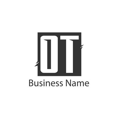Initial Letter OT Logo Template Design