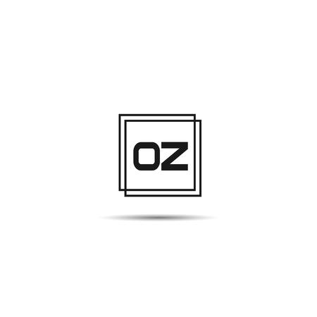 Początkowa litera OZ Logo Szablon projektu . Logo