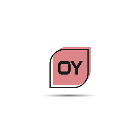 Initial Letter OY Logo Template Design