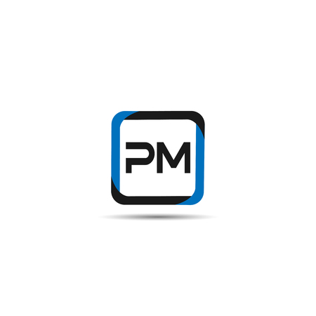 Initial Letter PM Logo Template Design Illustration