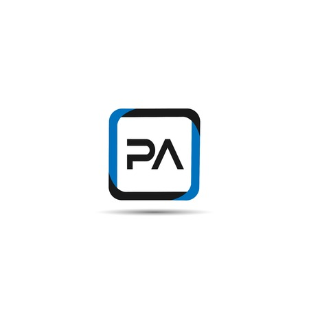 Initial Letter PA Logo Template Design